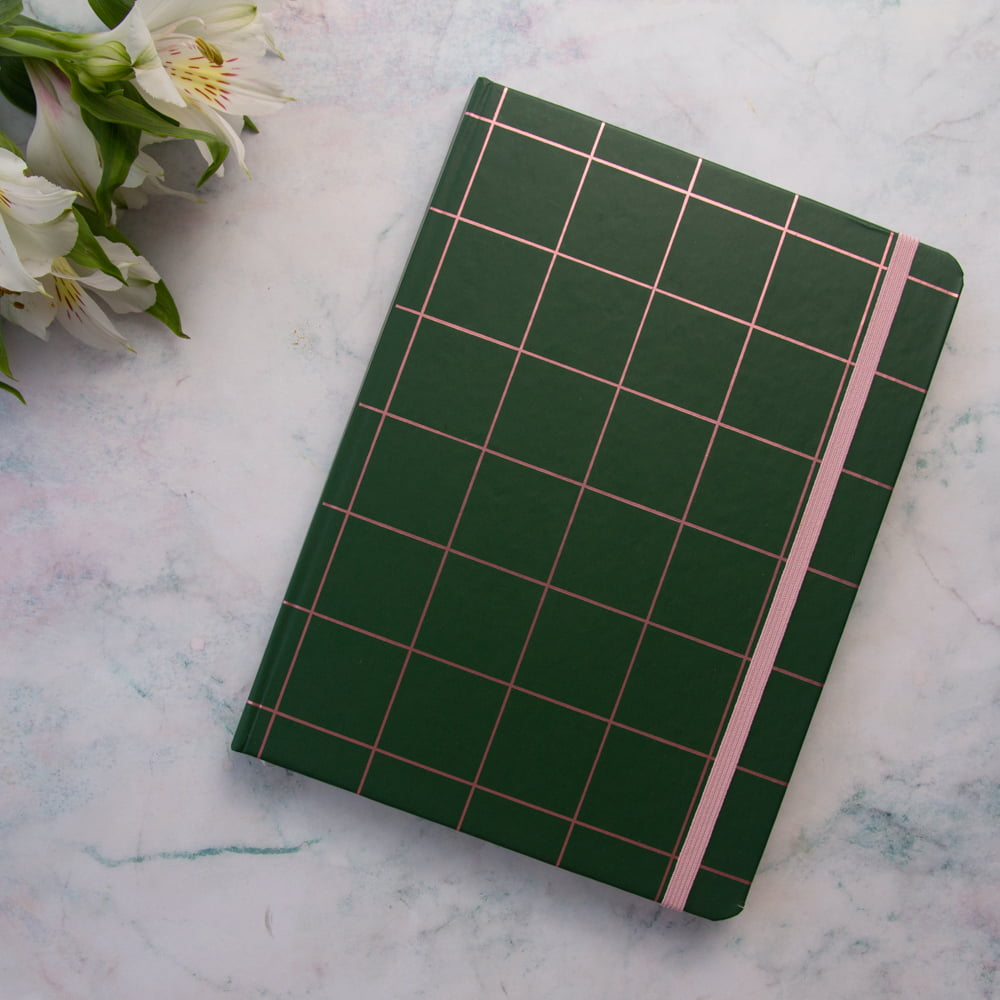 Caderno pontilhado Your feelings are valid - Verde e Rosa