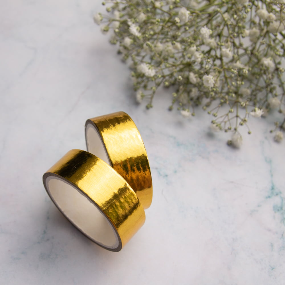DUPLA DE WASHI TAPES SOLID GOLD