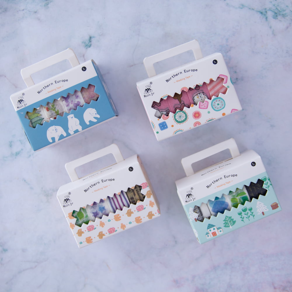 Kit com 4 Washi Tapes SORTIDAS