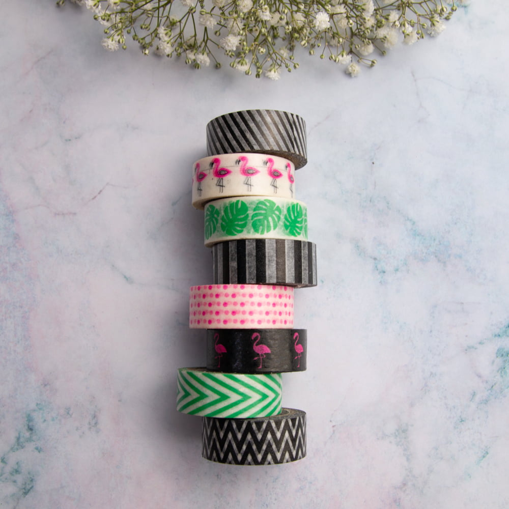 Kit Washi tapes Flamingo Party