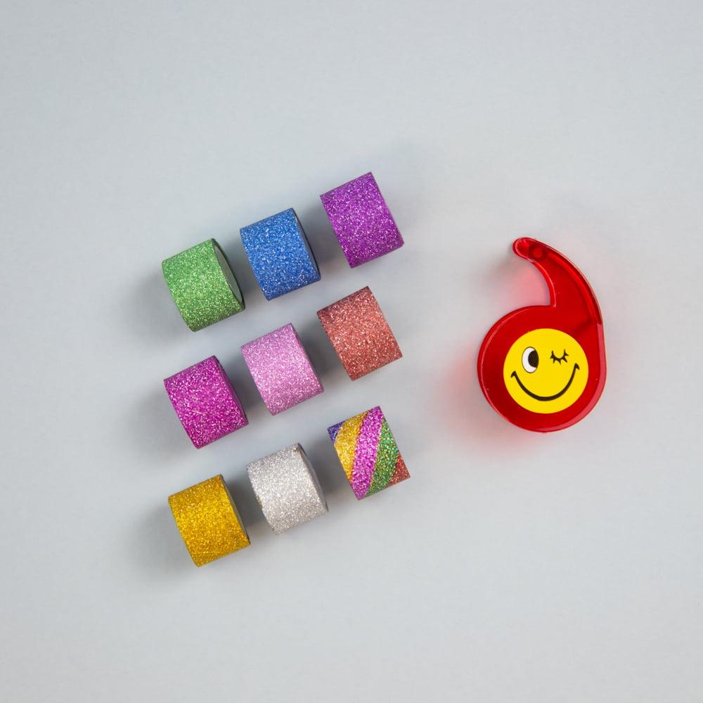 Mini kit Washi Tape de glitter