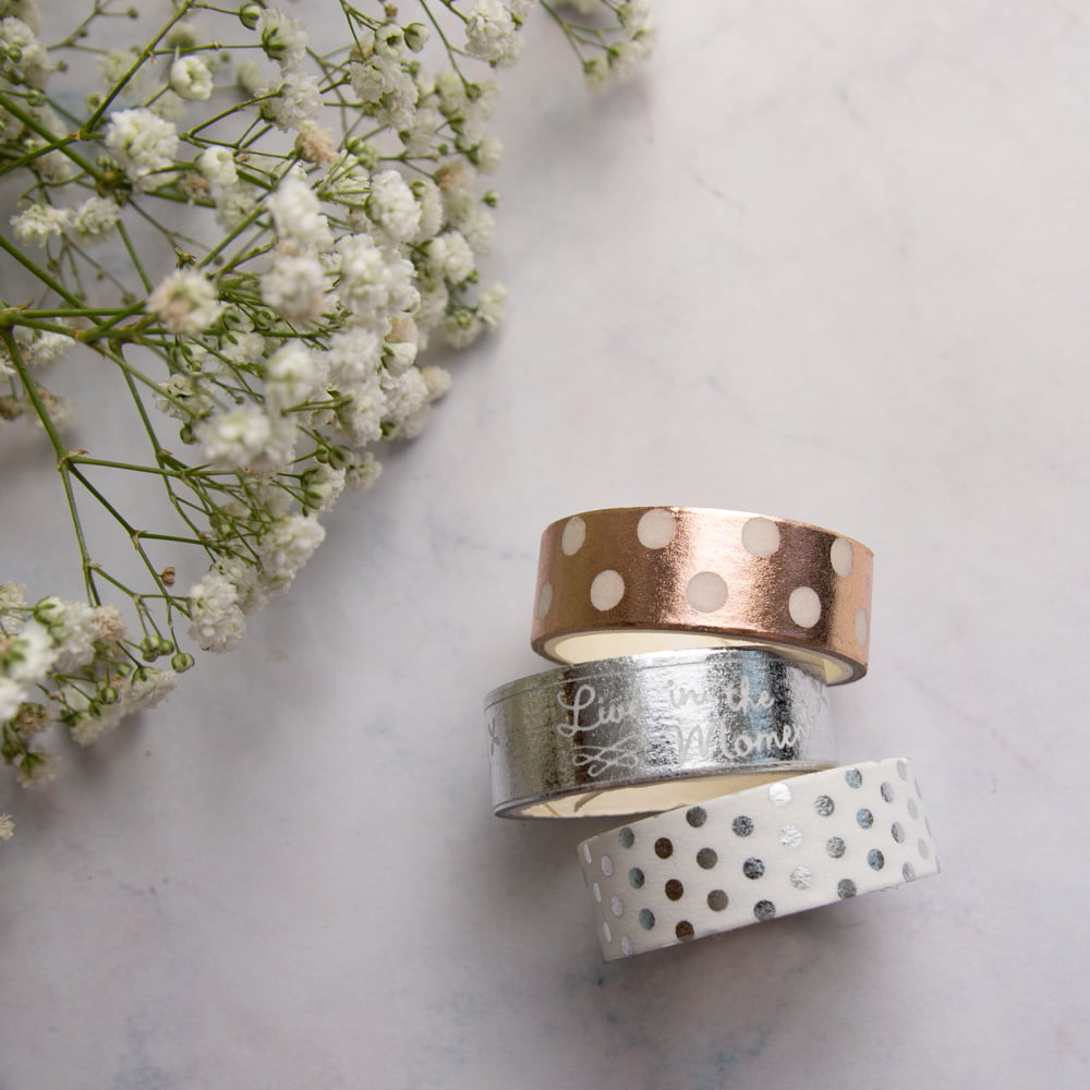 Trio de Washi Tapes Elegance