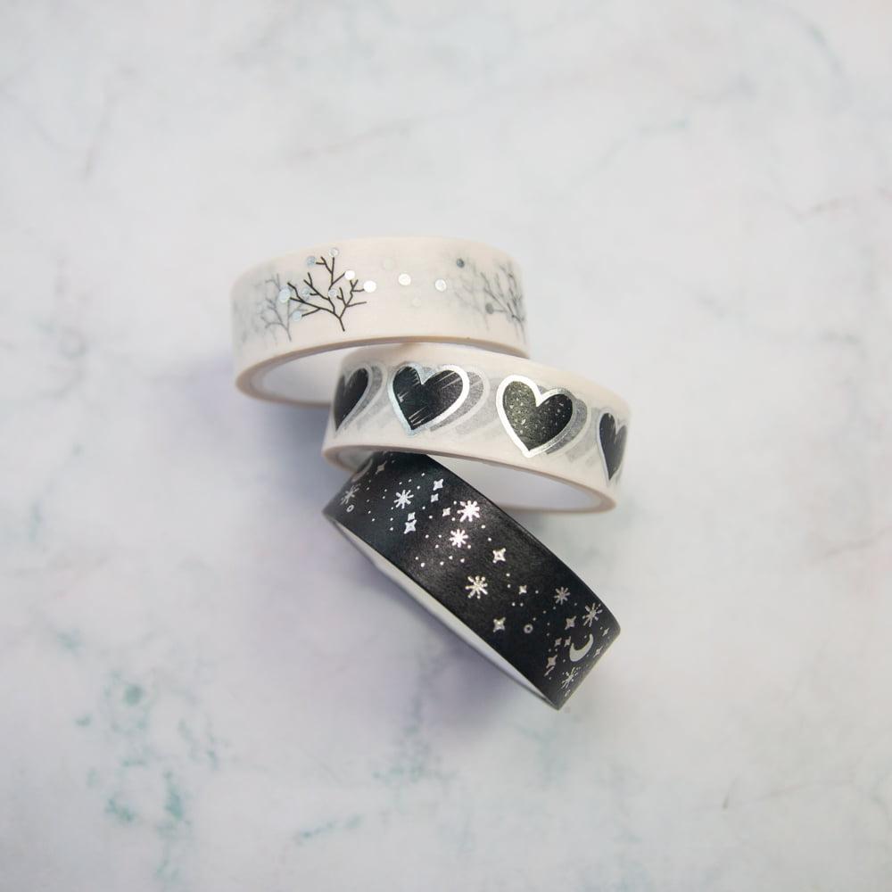 Trio Washi Tape Molin - Black & White