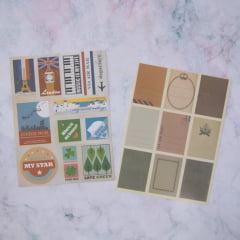 Kit de Adesivos Vintage