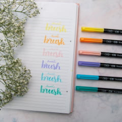 Kit Caneta Dual Brush Cis Pastel