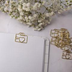 Clips Câmera Fotográfica Dourado