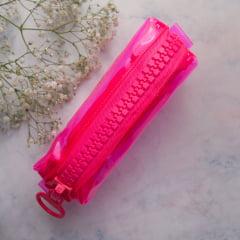 Estojo Mega Zíper  - Rosa Neon