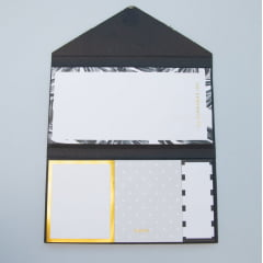 Kit de post-its Black and Gold