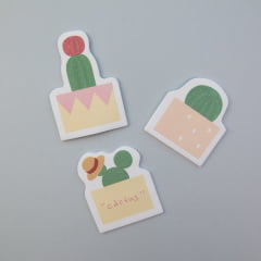 TRIO DE POST-IT CACTOS - Amarelo