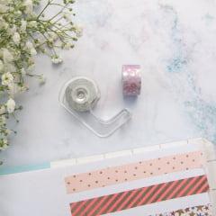 Dupla de Mini Washi Tapes Sortidas + Dispenser
