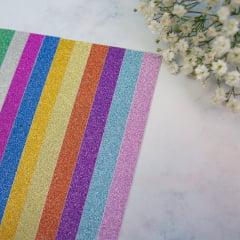 Kit de Papel com Glitter Adesivo