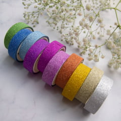 Kit de Washi tapes com glitter