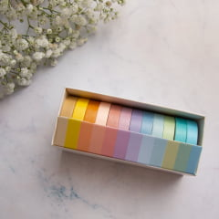Kit de Washi Tapes Pastel Rainbow