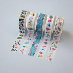 Kit Washi Tape Flamingo Tropical