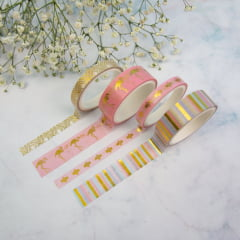 Mix de Washi Tapes - Flamingo