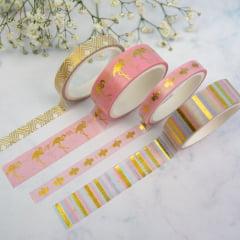 Mix de Washi Tapes - Flamingo