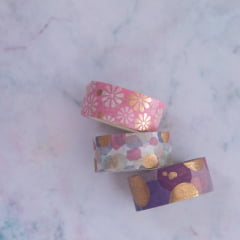 Trio de Washi Tapes Cute Daisy