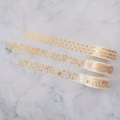 Trio de Washi Tapes Gem