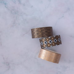Trio de Washi Tapes Gold Pattern