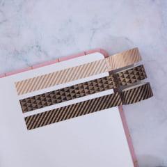 Trio de Washi Tapes Gold Stripes